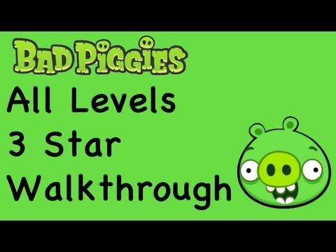 Bad Piggies - 3 Star Walkthrough All Levels (Ground Hog Day, When Pigs Fly, Sandbox, Hidden Skulls, Bonus Levels)