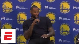 Download Lagu DeMarcus Cousins jokes about Klay Thompson in first Warriors press conference | ESPN Mp3