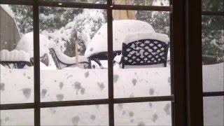 Snowstorm Jonas/ Snowzilla Timelapse- 32 inches of snow! January 22-23, 2016