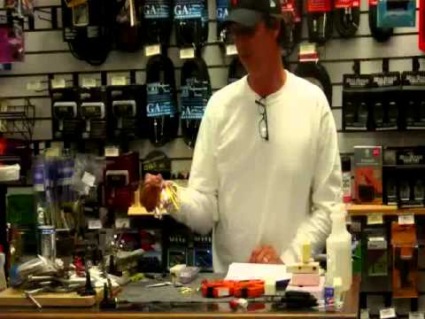 Lure Making - Flashabou Jigs - kayak fishing, kayak photos, kayak videos