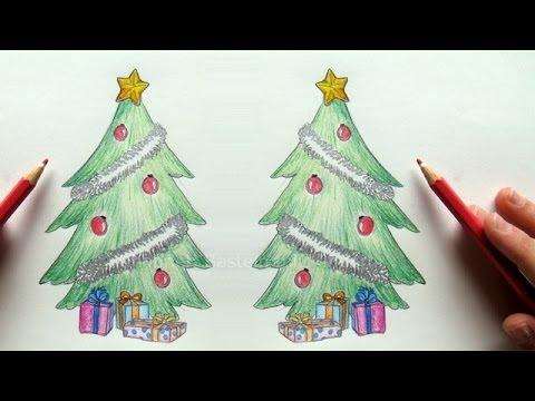 Tannenbaum zeichnen – Weihnachtsbaum zeichnen lernen