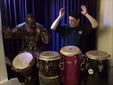 "Aly N'Diaye Rose ""Djembe"" & Gerardo Rosales ""Congas"" Percussion Jam – 2012 – Den Haag"