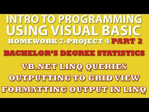 VB.net Programming Challenge 7-pp4: Bachelor's Degree Statistics Part 2 (VB LINQ, GridView)