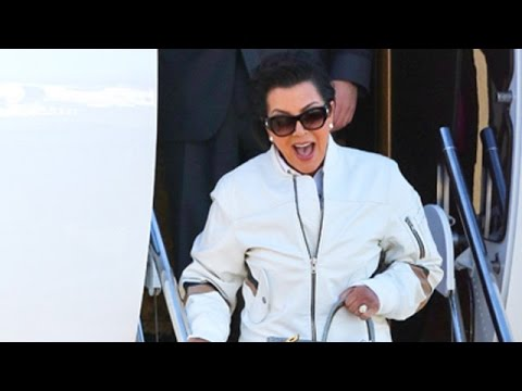 Kris Jenner And Corey Gamble Return From Italy