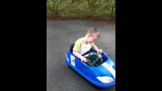 Landyn gets a razor bumper buggy!