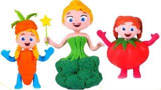GIRLS NEW VEGGIES DRESSES ❤ PLAY DOH CARTOONS FOR KIDS