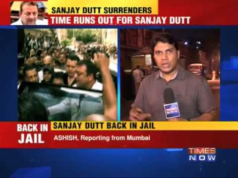 sanjay - Late on Thursday night at around 9pm Sanjay Dutt finally left the Sessions Court to head towards Arthur Road jail. He used the back gate of the court in orde...