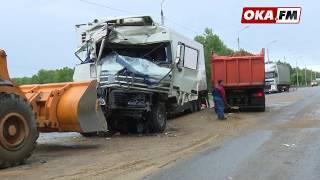В Серпуховском районе столкнулись фура и бензовоз