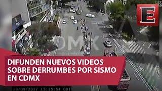 Download Lagu Fuertes Imágenes: Momento justo de los derrumbes por sismo en la CDMX Mp3
