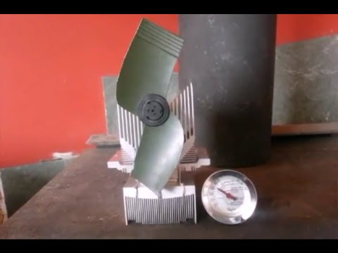 DIY $2 Woodstove Fan EASY 2 minutes