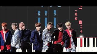 Video Bts ft Steve Aoki - Mic Drop (Piano Tutorial) MP3, 3GP, MP4, WEBM, AVI, FLV April 2018