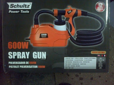 Spray painting with electric spray gun  Schultz Power tools