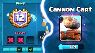 Video 12 WINS CANNON CART UNLOCKED | Clash Royale | How to, Tips, and Tricks MP3, 3GP, MP4, WEBM, AVI, FLV Agustus 2017