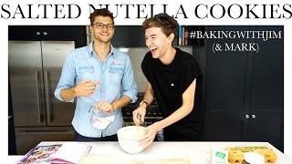 #BAKINGWITHJIM (& MARK) -  SALTED NUTELLA COOKIES