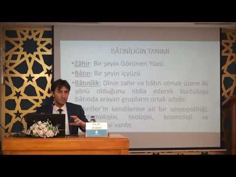 Doç. Dr. Ali AVCU - İslam Düşüncesinde Batınî-İrfanî Eğilimler