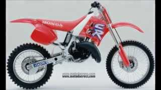 10. Evolution of Honda cr-125 from 1974 to 2007.