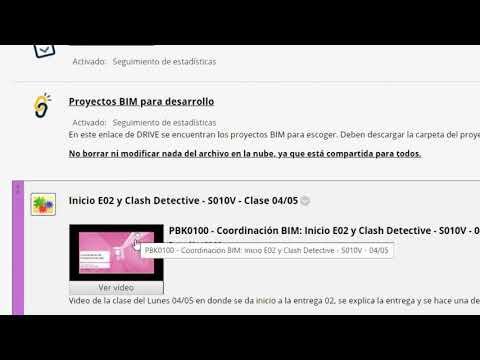 PBK0100 - Coordinación BIM: Resumen E02 y resolución de dudas - S010V - 11/05
