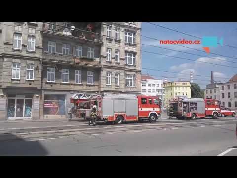 Požár domu v Brně