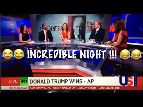 The moment RT NEWS realizes Donald Trump has WON THE ELECTION !!