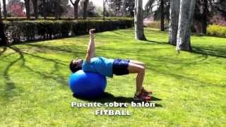 Puente sobre fitball normal