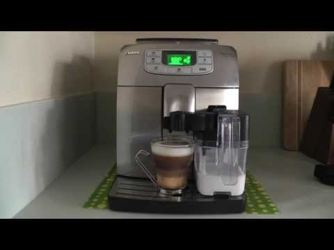 One Touch Cappuccino with Saeco Intelia