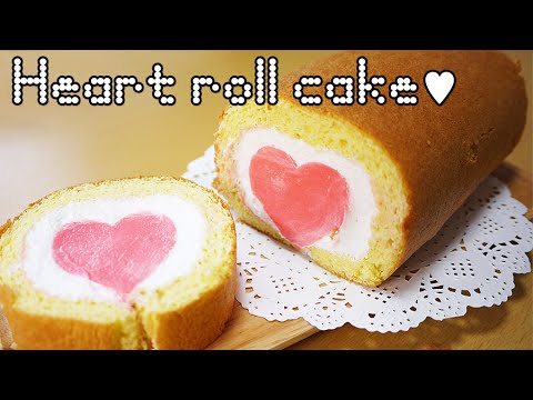 Heart Roll Cake - Sweet The MI