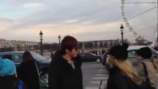 U-KISS in Paris 2 FANCAM 09.02.2012.