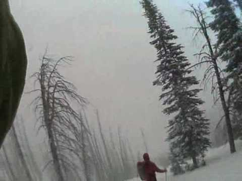 POV vid of Wallowa Skiing