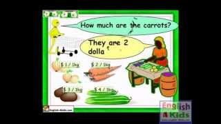 Vegetables vocabulary, carrot, cauliflower, ginger, garlic, English for kids
