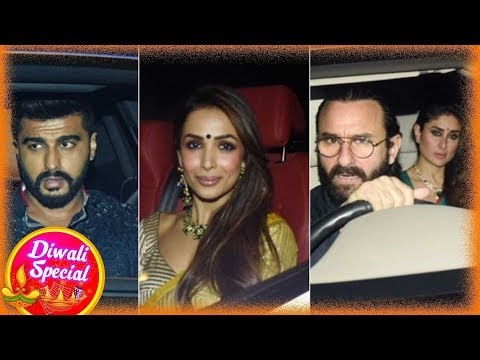 Karan Johar Grand Diwali Party - Malaika, Arjun, Sonakshi, Kareena and more
