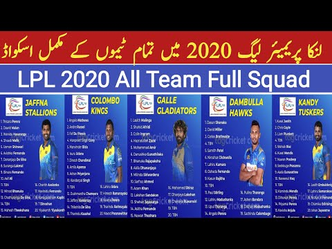 LPL 2020 All Team Squad | All Team Players List For Lanka Premier League 2020