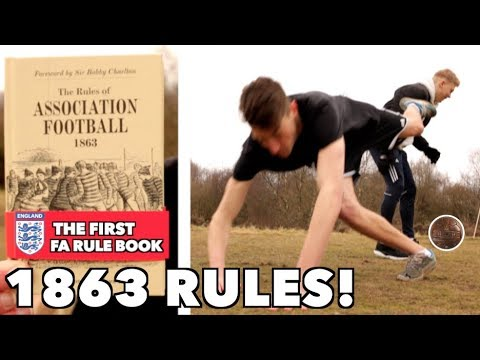 Playing FOOTBALL With 1860's RULES!!