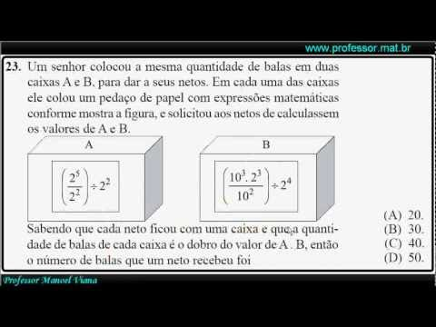 Concurso interno PM - SP (Matemática 21 a 24)