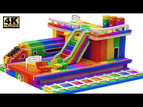 DIY - How To Make Train Station Subway From Magnetic Balls (Satisfying Videos) | Magnet World Series