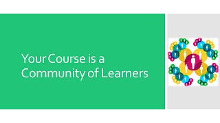 Video course - Your course is a community of learners