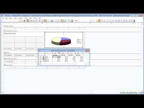 Advanced Microsoft Access 2013 Tutorial | Charts Filtered By The Reports Grouping