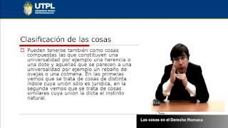 UTPL LAS COSAS EN EL DERECHO ROMANO [(ABOGACÍA)(DERECHO ROMANO)]