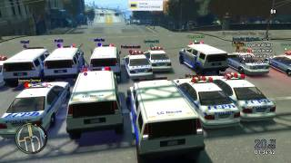 GTA IV - BUSTED x4 & 8-Track Demolition Derby