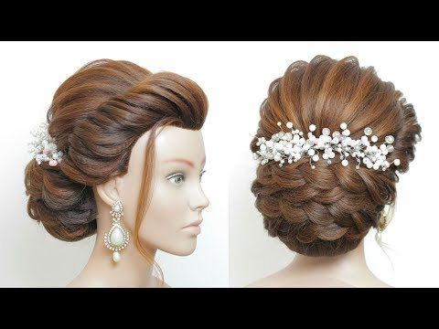 New hairstyle - Latest Bridal Hairstyle For Long Hair Tutorial. New Wedding Updo