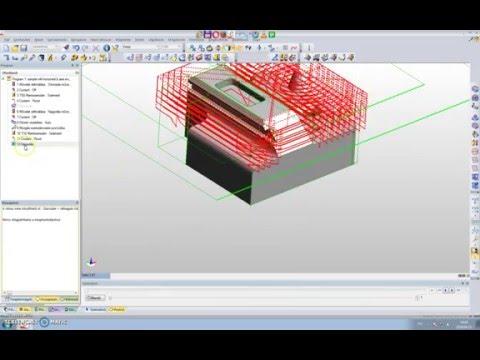 Edgecam tutorial 3  rész sikmarás, nagyolás (видео)
