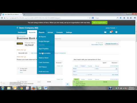 Xero Training - Bank Reconciliation Debtors & Creditors