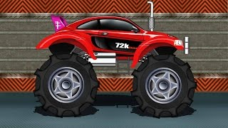 Monster Truck | Sports Car Monster Truck | Kids Car Race