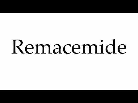 How to Pronounce Remacemide