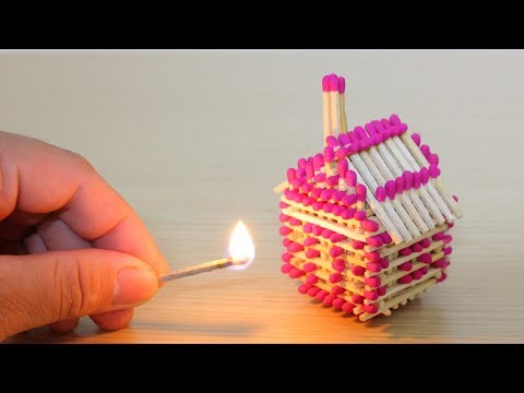 How to make a amazing House from Matches without Glue and Burn it.