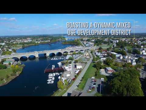 City Drone Aerial Overview | East Providence, Rhode Island