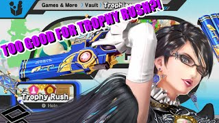 Bayonetta clearing Trophy Rush easily [Video/ How to]