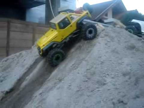 RC Crawler Medan - Axial 6x6 Try Out
