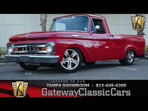 1962 Ford F100 - Gateway Classic Cars of Tampa Stock #1469-TPA