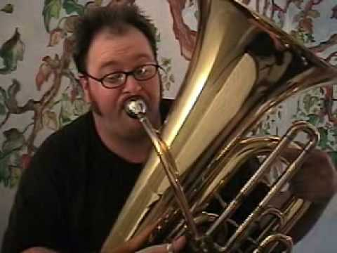 tuba - By request, here is the Super Mario theme played on the tuba. Please don't give me grief for the few botched notes, along with a botched hair-do, as I was si...