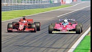 Video Ferrari F1 2018 vs Ferrari F1 1979 - Monza MP3, 3GP, MP4, WEBM, AVI, FLV Juli 2018